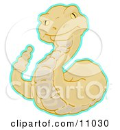 Alert Rattlesnake Clipart Picture by Leo Blanchette