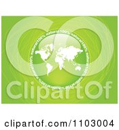 Clipart Reflective Round World Map Natural Circle Over Green With Scribbles Royalty Free Vector Illustration by Andrei Marincas