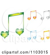 Clipart Colorful Heart Love Music Notes Royalty Free Vector Illustration by Andrei Marincas