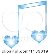 Clipart Two Blue Heart Love Music Notes Royalty Free Vector Illustration by Andrei Marincas