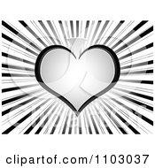 Clipart Gray Poker Spade On Rays Royalty Free Vector Illustration