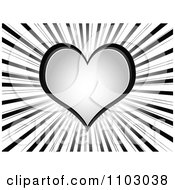 Clipart Gray Love Or Poker Heart On Rays Royalty Free Vector Illustration by Andrei Marincas