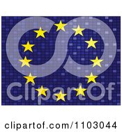 Clipart Mosaic European Flag Royalty Free Vector Illustration