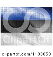 Clipart Estonian Flag Made Of Dots Royalty Free Vector Illustration