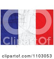 Clipart Grungy French Flag Royalty Free Vector Illustration by Andrei Marincas