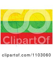 Clipart Grungy Lithuanian Flag Royalty Free Vector Illustration
