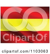 Clipart Spanish Flag Made Of Dots Royalty Free Vector Illustration