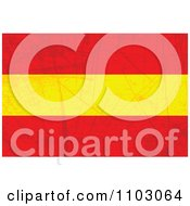 Clipart Grungy Spanish Flag Royalty Free Vector Illustration