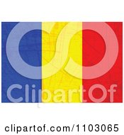 Clipart Grungy Romanian Flag Royalty Free Vector Illustration