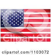 Clipart Pixelated American Flag Royalty Free Vector Illustration