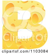 Clipart Capital Cheese Letter B Royalty Free Vector Illustration by Andrei Marincas