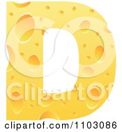 Clipart Capital Cheese Letter D Royalty Free Vector Illustration by Andrei Marincas