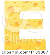 Clipart Capital Cheese Letter E Royalty Free Vector Illustration by Andrei Marincas