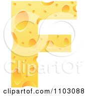 Clipart Capital Cheese Letter F Royalty Free Vector Illustration