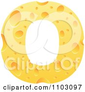 Clipart Capital Cheese Letter O Royalty Free Vector Illustration
