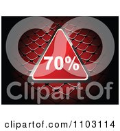 Clipart Shiny Red 70 Percent Discount Triangle Over A Net Royalty Free Vector Illustration by Andrei Marincas