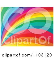 Clipart Rainbow Curve Background Royalty Free Vector Illustration by Andrei Marincas