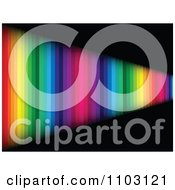 Clipart Rainbow Wall Leading Into The Distance On Black Royalty Free Vector Illustration by Andrei Marincas