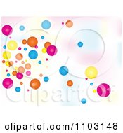 Clipart Background Of Colorful Bubbles Over Gradient Royalty Free Vector Illustration