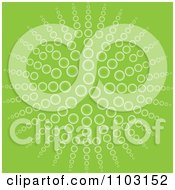 Clipart Green Background Of Bubbles Forming A Flower Or Sun Royalty Free Vector Illustration by Andrei Marincas