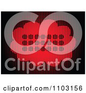 Clipart Chat Balloon Made Of Red Dots Royalty Free Vector Illustration