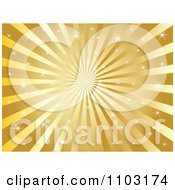 Clipart Sparkly Gold Burst Background Royalty Free Vector Illustration