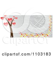 Clipart Grungy Heart Tree Website Banner Royalty Free Vector Illustration