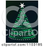 Clipart Green Christmas Tree On Black Royalty Free Vector Illustration by Andrei Marincas