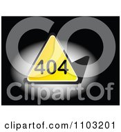 Clipart Yellow Triangular 404 Error Notice Royalty Free Vector Illustration