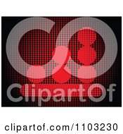 Clipart Graph Made Of Red Dots Royalty Free Vector Illustration by Andrei Marincas