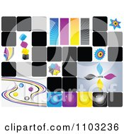 Clipart Collage Of CMYK Color Icons Royalty Free Vector Illustration by Andrei Marincas
