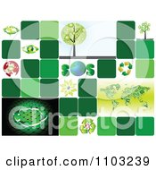 Clipart Collage Of Recycle And Ecology Icons Royalty Free Vector Illustration by Andrei Marincas