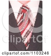 Clipart Pixelated Business Mans Tie And Suit Made Of Dots Royalty Free Vector Illustration