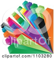 Clipart 3d Colorful Cubes With Space Between Them Royalty Free Vector Illustration by Andrei Marincas