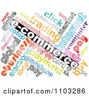 Clipart Collorful E Commerce Word Collage Royalty Free Vector Illustration by Andrei Marincas