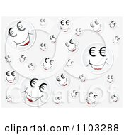 Clipart Gray Background With Happy Euro Faces Royalty Free Vector Illustration by Andrei Marincas
