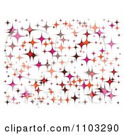 Clipart Background Of Sparkling Stars On White Royalty Free Vector Illustration