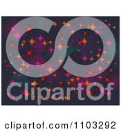 Clipart Background Of Sparkling Stars Royalty Free Vector Illustration