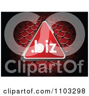 Clipart Reflective Red Dot Biz Triangle Over A Net Royalty Free Vector Illustration by Andrei Marincas