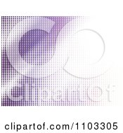 Clipart Background Of Purple Halftone Dots Royalty Free Vector Illustration by Andrei Marincas