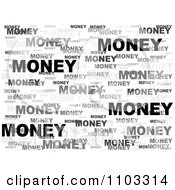 Grayscale Money Word Collage