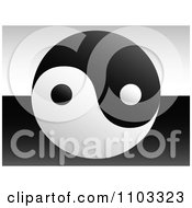 Clipart Yin Yang Over Black And White Royalty Free Vector Illustration