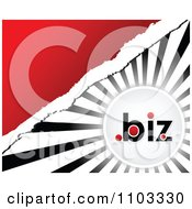 Clipart Dot Biz Circle Over Rays With Torn Paper And Red Copyspace Royalty Free Vector Illustration by Andrei Marincas