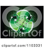 Clipart Green Recycle Arrows Over A Net Royalty Free Vector Illustration by Andrei Marincas