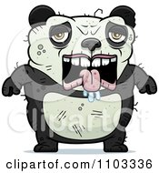 Clipart Depressed Ugly Panda Royalty Free Vector Illustration by Cory Thoman