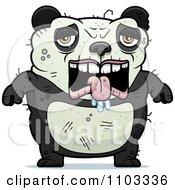 Clipart Depressed Ugly Panda Royalty Free Vector Illustration