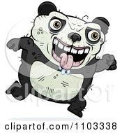 Clipart Running Ugly Panda Royalty Free Vector Illustration by Cory Thoman