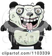 Clipart Drooling Ugly Panda Royalty Free Vector Illustration by Cory Thoman