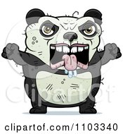 Clipart Angry Ugly Panda Royalty Free Vector Illustration by Cory Thoman