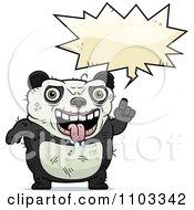 Clipart Talking Ugly Panda Royalty Free Vector Illustration by Cory Thoman